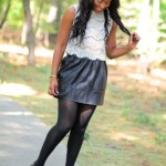 Casual: Leather Skirt