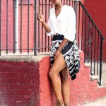 Casual: Floral Print Skirt